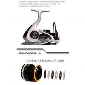 Fishdrops HB3000 Reel Pancing 13 Ball Bearing - White - 10