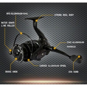 Fishdrops BE6000 Reel Pancing 13 Ball Bearing - Black - 8