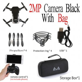 SMRC M11 Quadcopter Drone Foldable Body with FPV Camera 2MP - Black - 2