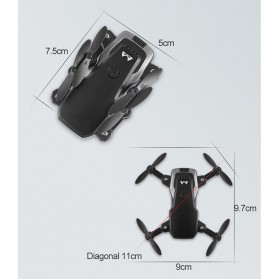 SMRC M11 Quadcopter Drone Foldable Body with FPV Camera 2MP - Black - 10
