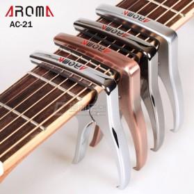 AROMA Capo Gitar Metal Alloy with Bridge Pin Remover - AC-21 - Black - 2