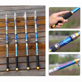 Yuelong Joran Pancing Portable Telescopic Epoxy Resin 3.0M/7 - Blue
