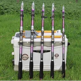 JIEWEIYUJU Joran Pancing Portable Telescopic Epoxy Resin 2.4M/6 - Purple - 9