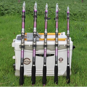 JIEWEIYUJU Joran Pancing Portable Telescopic Epoxy Resin 2.7M/6 - Purple - 9