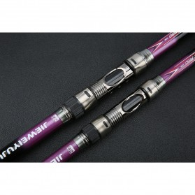 JIEWEIYUJU Joran Pancing Portable Telescopic Epoxy Resin 3.0M/7 - Purple - 4