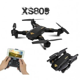Visuo Quadcopter Drone WiFi FPV with 2MP Wide Camera - XS809H-W-HD-G - Black