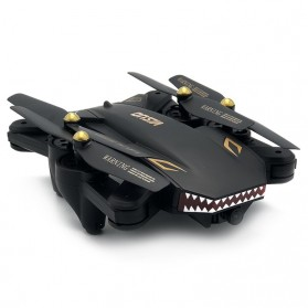 Visuo Battle Shark Quadcopter Drone WiFi 2MP Camera - XS809S-H-W-G - Black - 3