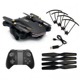 Visuo Battle Shark Quadcopter Drone WiFi 2MP Camera - XS809S-H-W-G - Black - 6
