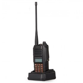 Taffware Walkie Talkie Dual Band 5W 16CH UHF+VHF - UV-9R - Black