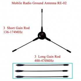 Taffware Pofung Nagoya Antenna UHF-F 10-1300MHz Ground Radical for Car Mobile Radio- RE-02 - Black