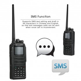 Taffware Walkie Talkie Dual Band Two Way Radio 5W 3000CH UHF+VHF - DM-1701 - Black - 5