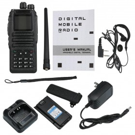 Taffware Walkie Talkie Dual Band Two Way Radio 5W 3000CH UHF+VHF - DM-1701 - Black - 8