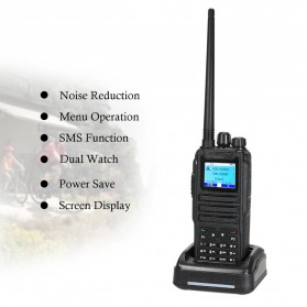 Taffware Walkie Talkie Dual Band Two Way Radio 5W 3000CH UHF+VHF - DM-1701 - Black - 9