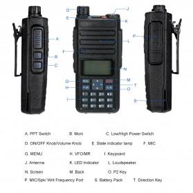Taffware Walkie Talkie Dual Band Two Way Radio 5W 3000CH UHF+VHF - DM-1801 - Black - 5
