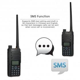 Taffware Walkie Talkie Dual Band Two Way Radio 5W 3000CH UHF+VHF - DM-1801 - Black - 6