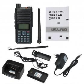 Taffware Walkie Talkie Dual Band Two Way Radio 5W 3000CH UHF+VHF - DM-1801 - Black - 7
