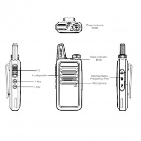 Taffware Walkie Talkie Single Band 6W 16CH UHF - BF-R5 Max - Black - 6
