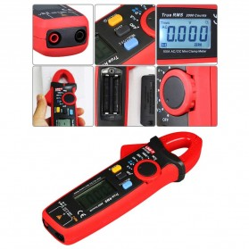 UNI-T RMS Mini Digital Clamp Meters NVC Mulitmeter AC/DC - UT210E - Black/Red