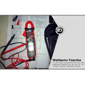 UNI-T RMS Mini Digital Clamp Meters NVC Mulitmeter AC/DC - UT210E - Black/Red - 6