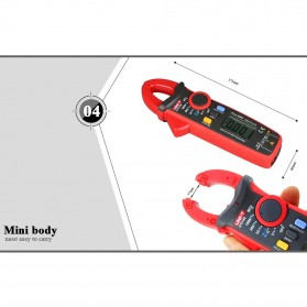 UNI-T RMS Mini Digital Clamp Meters NVC Mulitmeter AC/DC - UT210E - Black/Red - 7