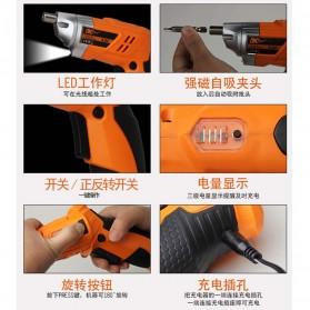 DC Tools Obeng Listrik Cordless Screwdriver 4.8V 52 in 1 - S032 - Orange - 6