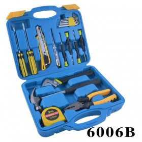 Toolsbox Set Perkakas Obeng Set Cutter Tang Tespen Meteran - 6006B