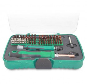 Perlengkapan Obeng Set 62 in 1 - EC318 - Green