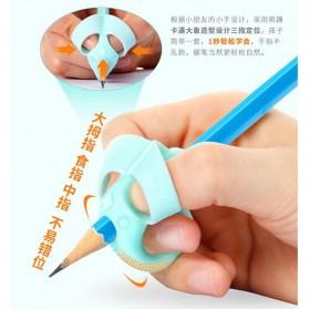 Silicone Grip Pensil Anak Model Gajah 4 PCS - M370 - Blue - 2