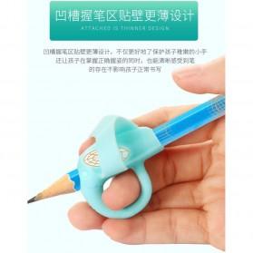 Silicone Grip Pensil Anak Model Gajah 4 PCS - M370 - Blue - 3