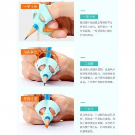 Silicone Grip Pensil Anak Model Gajah 4 PCS - M370 - Blue - 5