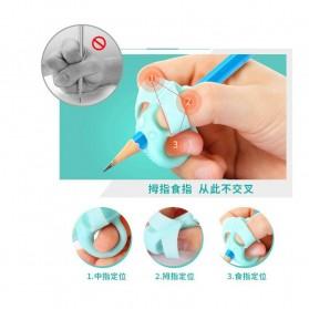 Silicone Grip Pensil Anak Model Gajah 4 PCS - M370 - Blue - 6