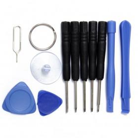 Alloet Peralatan Reparasi Smartphone 11 in 1 Repair Tools Set - W3011 - Black - 2
