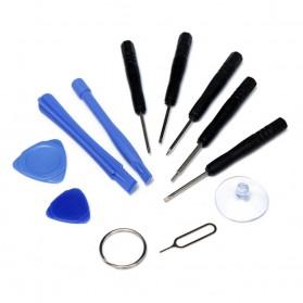 Alloet Peralatan Reparasi Smartphone 11 in 1 Repair Tools Set - W3011 - Black - 4