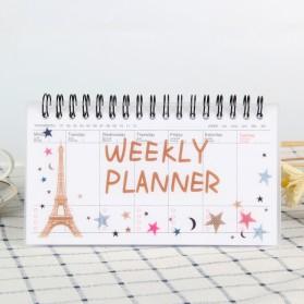 Kalender Weekly Planner Schedule Agenda Memo Notebook - DYW259 - Orange