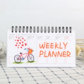Kalender Weekly Planner Schedule Agenda Memo Notebook - DYW259 - Red