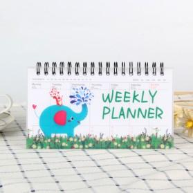 Kalender Weekly Planner Schedule Agenda Memo Notebook - DYW259 - Blue