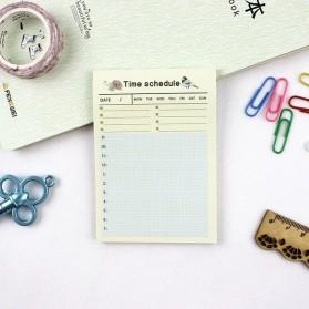 Kalender Planner Schedule Agenda Memo Notebook Model Time Schedule - AF37