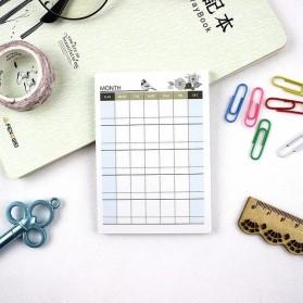 Kalender Planner Schedule Agenda Memo Notebook Model Monthly - AF37