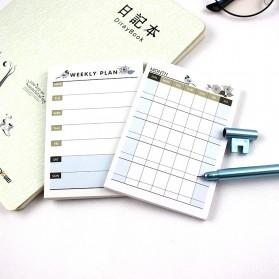 Kalender Planner Schedule Agenda Memo Notebook Model Weekly - AF37 - 4