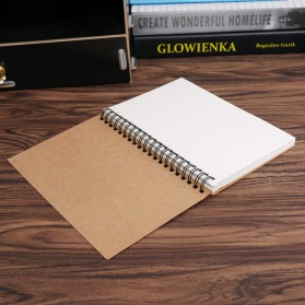 JESJELIU Buku Diary Menggambar Sketchbook Drawing Memo Pad Notebook - BQ-N14 - Brown/White