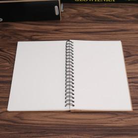 JESJELIU Buku Diary Menggambar Sketchbook Drawing Memo Pad Notebook - BQ-N14 - Brown/White - 3