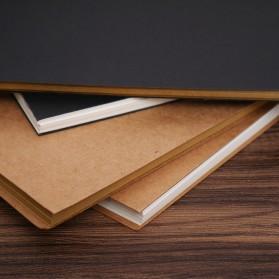 JESJELIU Buku Diary Menggambar Sketchbook Drawing Memo Pad Notebook - BQ-N14 - Brown/White - 4