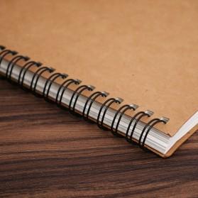 JESJELIU Buku Diary Menggambar Sketchbook Drawing Memo Pad Notebook - BQ-N14 - Brown/White - 5
