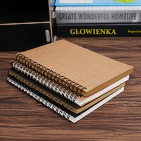 JESJELIU Buku Diary Menggambar Sketchbook Drawing Memo Pad Notebook - BQ-N14 - Brown/White - 6