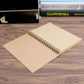 JESJELIU Buku Diary Menggambar Sketchbook Drawing Memo Pad Notebook - BQ-N14 - Brown
