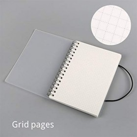 JIANWU Buku Binder Catatan Jurnal Harian Notebook Format Grid Pages Ukuran A5 - S2526 - White