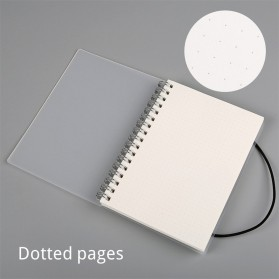 JIANWU Buku Binder Catatan Jurnal Harian Notebook Format Dotted Pages Ukuran A6 - S2526 - White