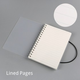 JIANWU Buku Binder Catatan Jurnal Harian Notebook Format Lined Pages Ukuran A6 - S2526 - White