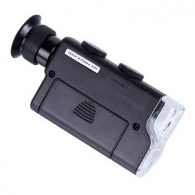 OUTAD Alat Cek Uang Palsu Pocket Microscope Magnifier 200-240x with UV Light - 7752 - Black - 2