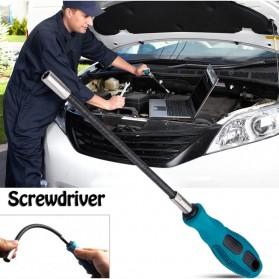 PENGGONG Obeng Flexible Hex Flex Socket Screwdriver Non Slip - 9906 - Green - 3